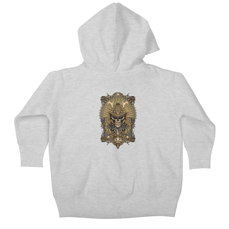 ornamental samurai skull Kids Baby Zip-Up Hoody by gupikus's Artist Shop