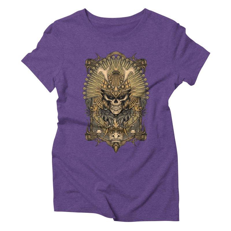 ornamental samurai skull Women's Triblend T-Shirt by gupikus's Artist Shop