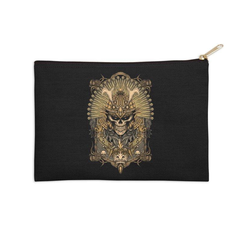 ornamental samurai skull Accessories Zip Pouch by gupikus's Artist Shop