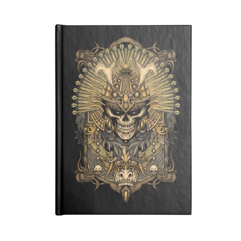ornamental samurai skull Accessories Blank Journal Notebook by gupikus's Artist Shop