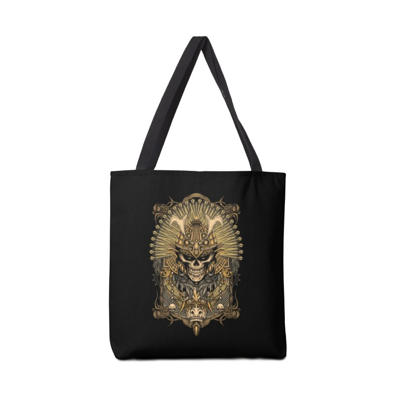 ornamental samurai skull Accessories Bag by gupikus's Artist Shop