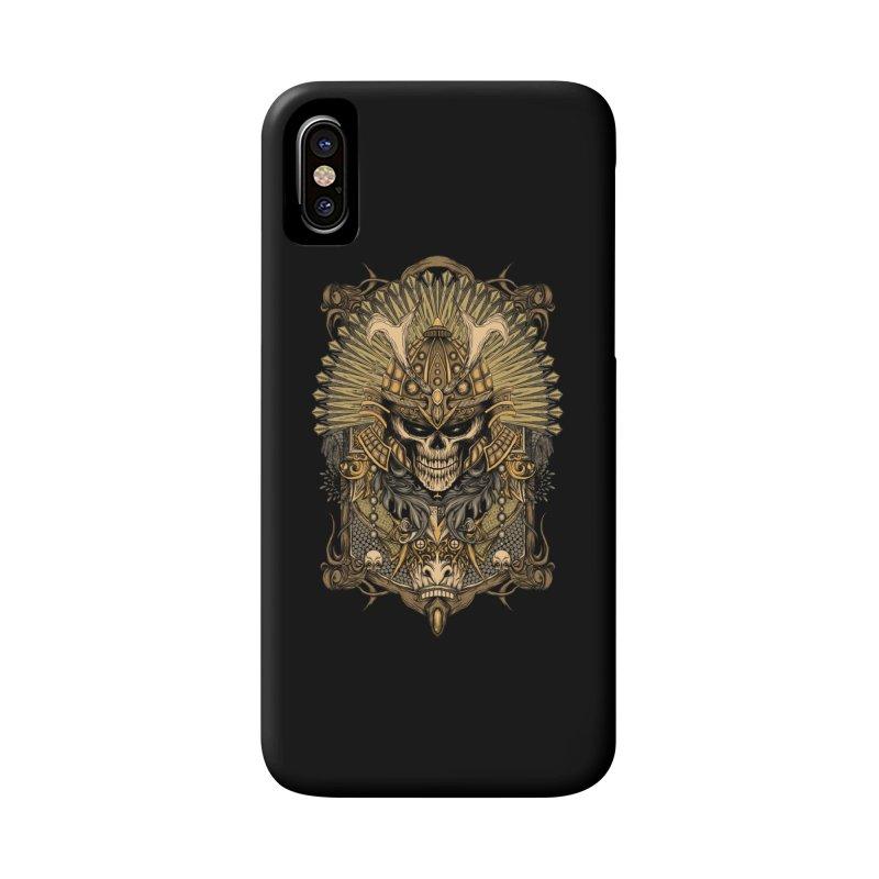 ornamental samurai skull Accessories Phone Case by gupikus's Artist Shop