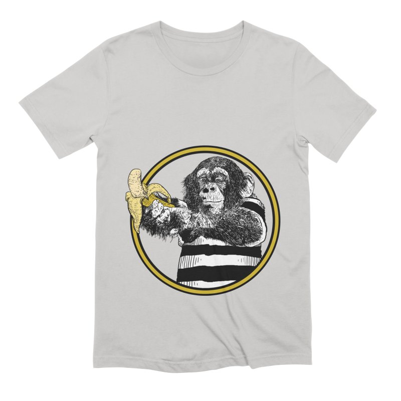 monkey and banana Men's Extra Soft T-Shirt by gupikus's Artist Shop