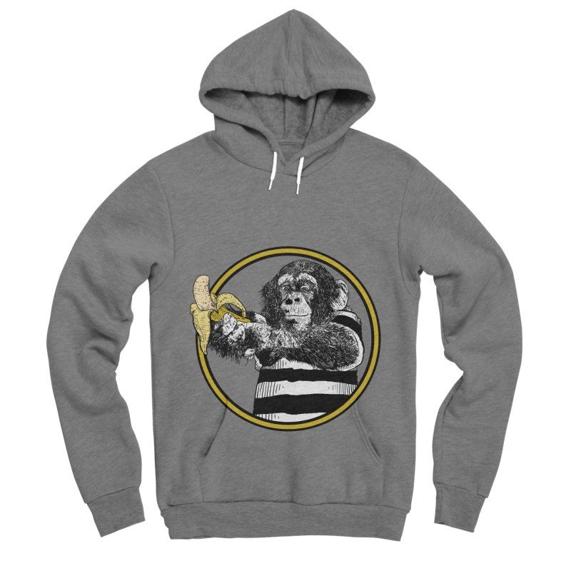 monkey and banana Women's Sponge Fleece Pullover Hoody by gupikus's Artist Shop