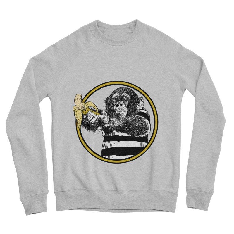 monkey and banana Women's Sponge Fleece Sweatshirt by gupikus's Artist Shop