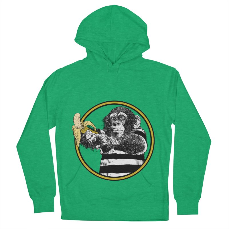 monkey and banana Women's French Terry Pullover Hoody by gupikus's Artist Shop