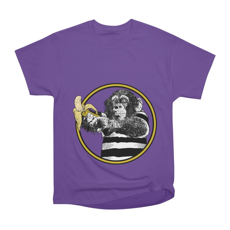 monkey and banana Women's Heavyweight Unisex T-Shirt by gupikus's Artist Shop