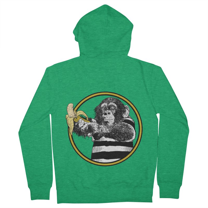 monkey and banana Women's French Terry Zip-Up Hoody by gupikus's Artist Shop