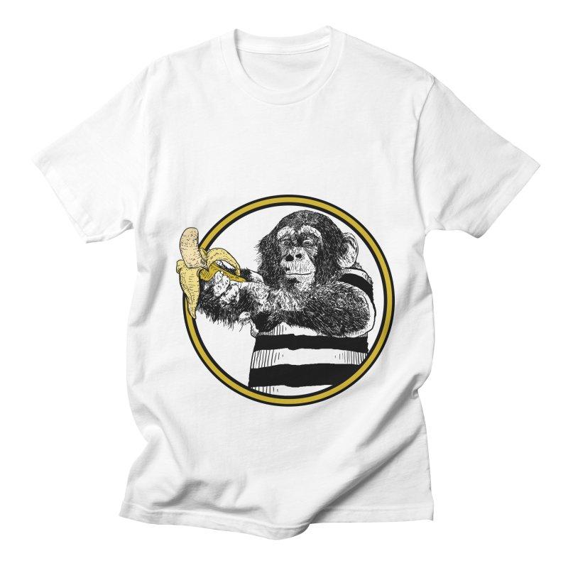 monkey and banana Women's Regular Unisex T-Shirt by gupikus's Artist Shop