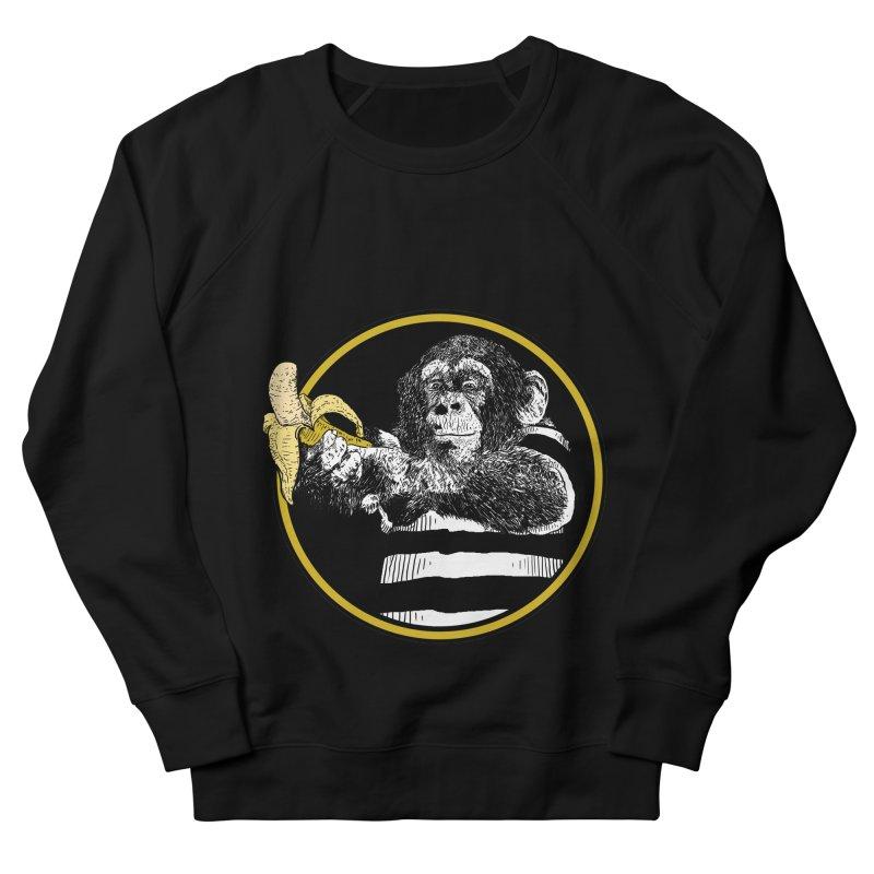 monkey and banana Women's French Terry Sweatshirt by gupikus's Artist Shop