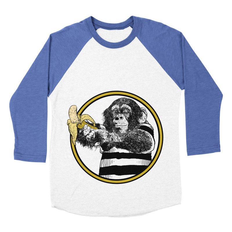 monkey and banana Women's Baseball Triblend Longsleeve T-Shirt by gupikus's Artist Shop
