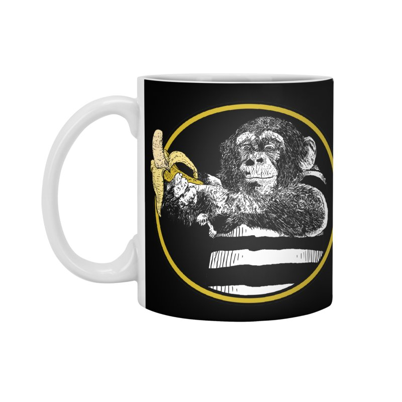 monkey and banana Accessories Standard Mug by gupikus's Artist Shop