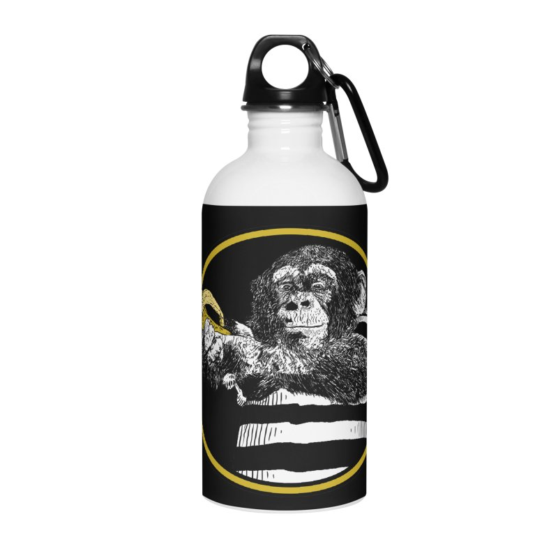 monkey and banana Accessories Water Bottle by gupikus's Artist Shop