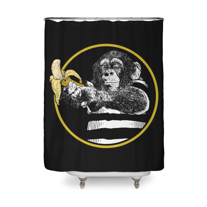 monkey and banana Home Shower Curtain by gupikus's Artist Shop