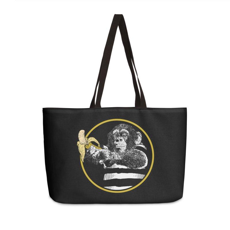 monkey and banana Accessories Weekender Bag Bag by gupikus's Artist Shop