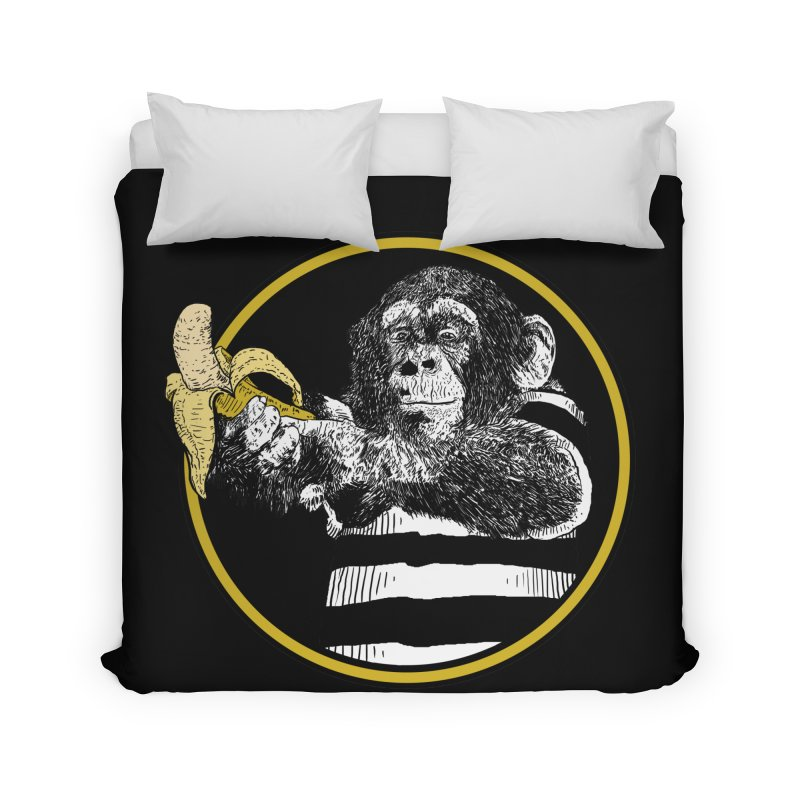 monkey and banana Home Duvet by gupikus's Artist Shop