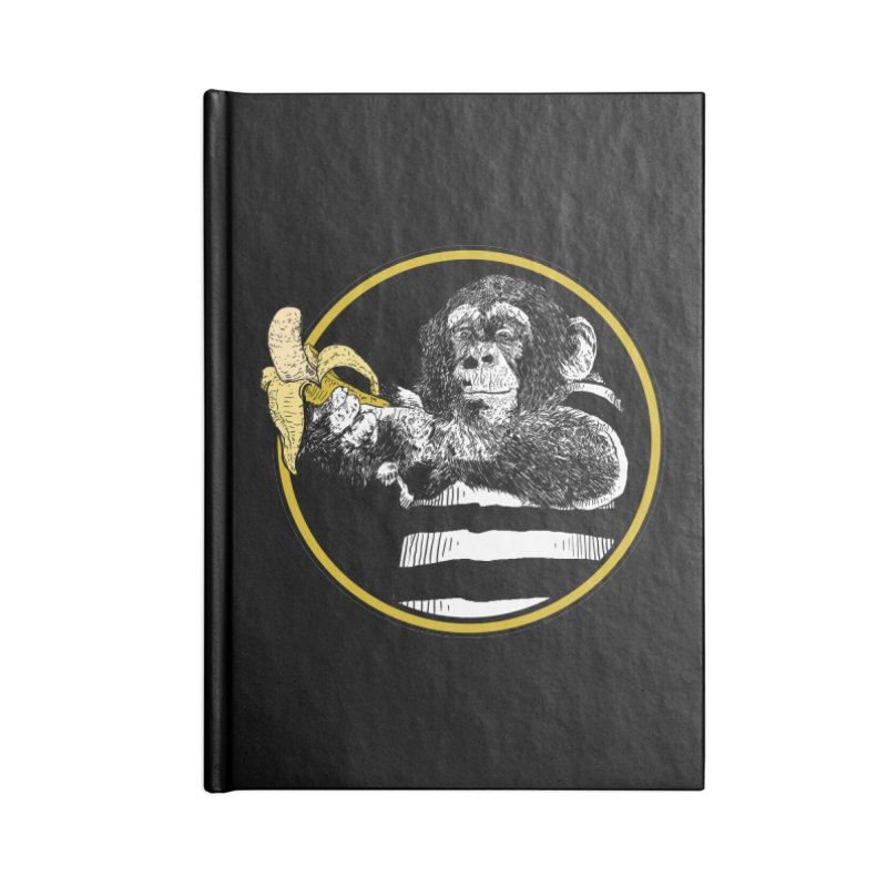monkey and banana Accessories Lined Journal Notebook by gupikus's Artist Shop
