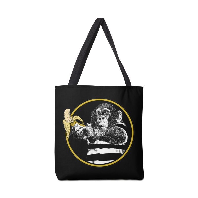 monkey and banana Accessories Bag by gupikus's Artist Shop