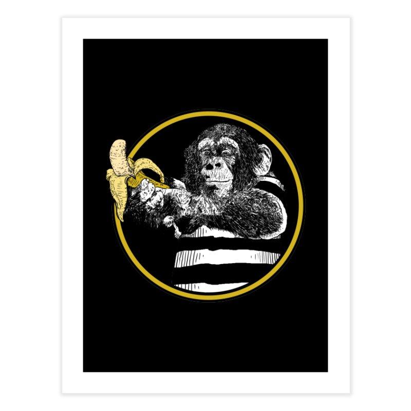 monkey and banana Home Fine Art Print by gupikus's Artist Shop