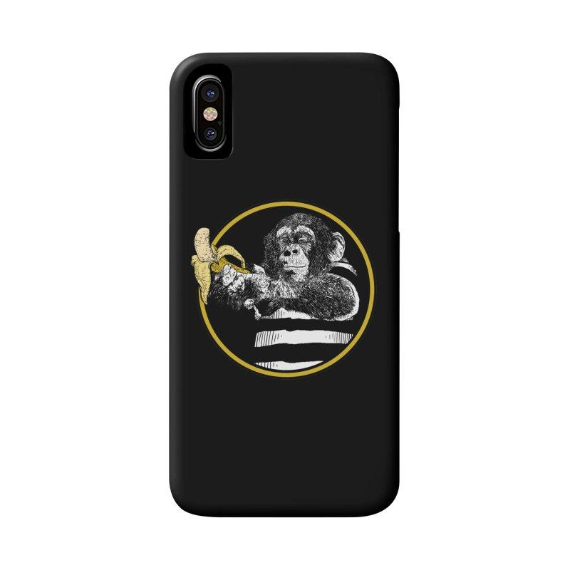 monkey and banana Accessories Phone Case by gupikus's Artist Shop