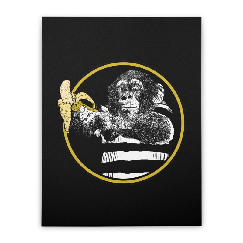 monkey and banana Home Stretched Canvas by gupikus's Artist Shop