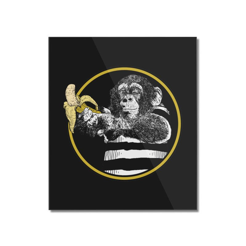 monkey and banana Home Mounted Acrylic Print by gupikus's Artist Shop