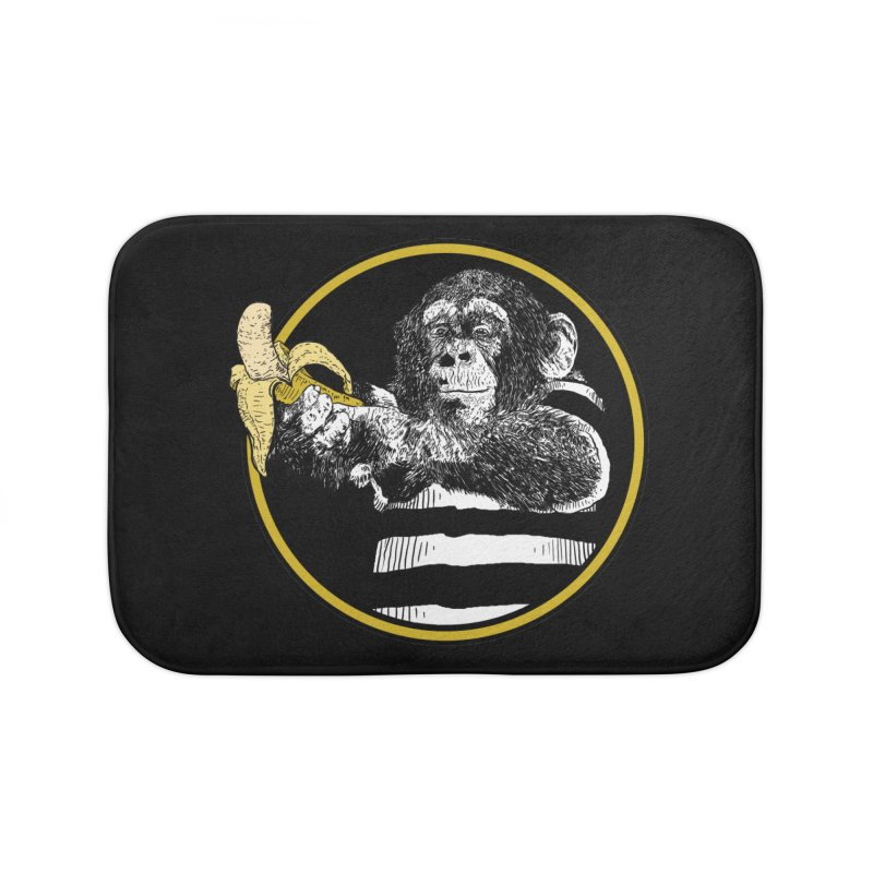 monkey and banana Home Bath Mat by gupikus's Artist Shop