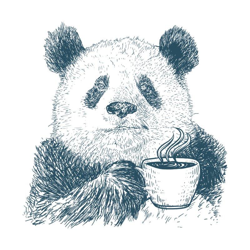 coffee panda Women's Longsleeve T-Shirt by gupikus's Artist Shop
