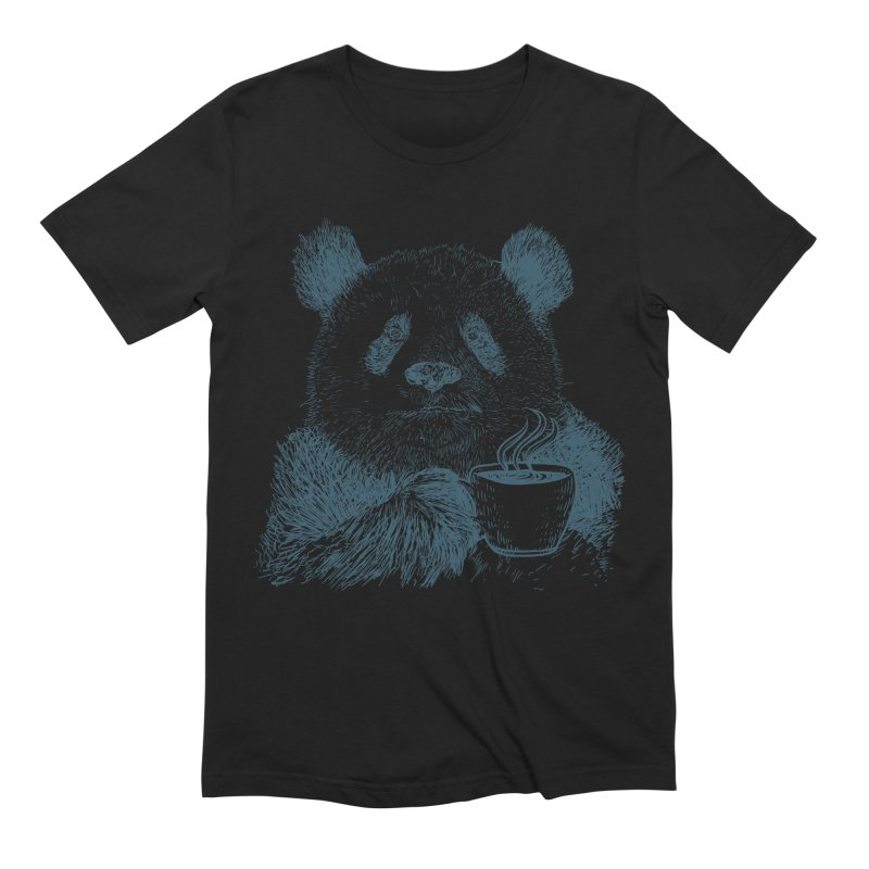 coffee panda Men's Extra Soft T-Shirt by gupikus's Artist Shop
