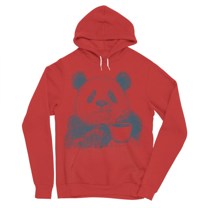 coffee panda Women's Sponge Fleece Pullover Hoody by gupikus's Artist Shop
