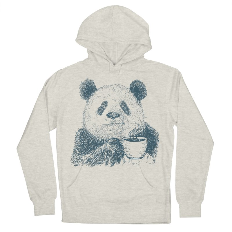 coffee panda Women's French Terry Pullover Hoody by gupikus's Artist Shop