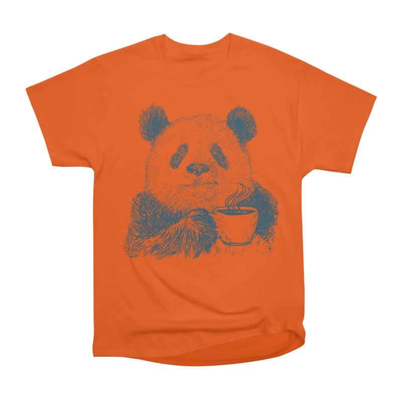 coffee panda Women's Heavyweight Unisex T-Shirt by gupikus's Artist Shop