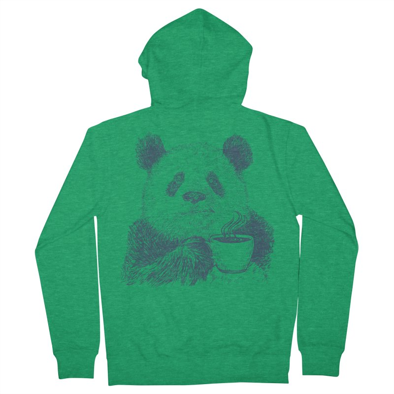 coffee panda Women's French Terry Zip-Up Hoody by gupikus's Artist Shop