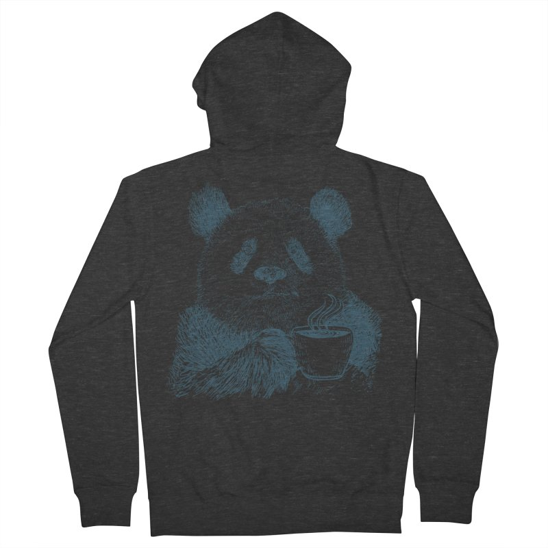coffee panda Women's French Terry Zip-Up Hoody by gupikus's Artist Shop