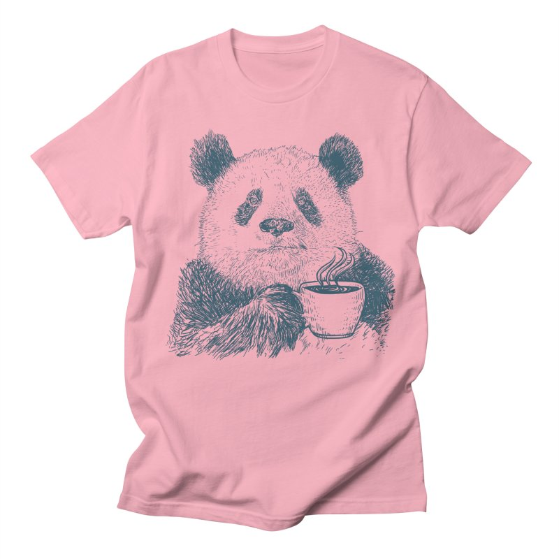 coffee panda Women's Regular Unisex T-Shirt by gupikus's Artist Shop