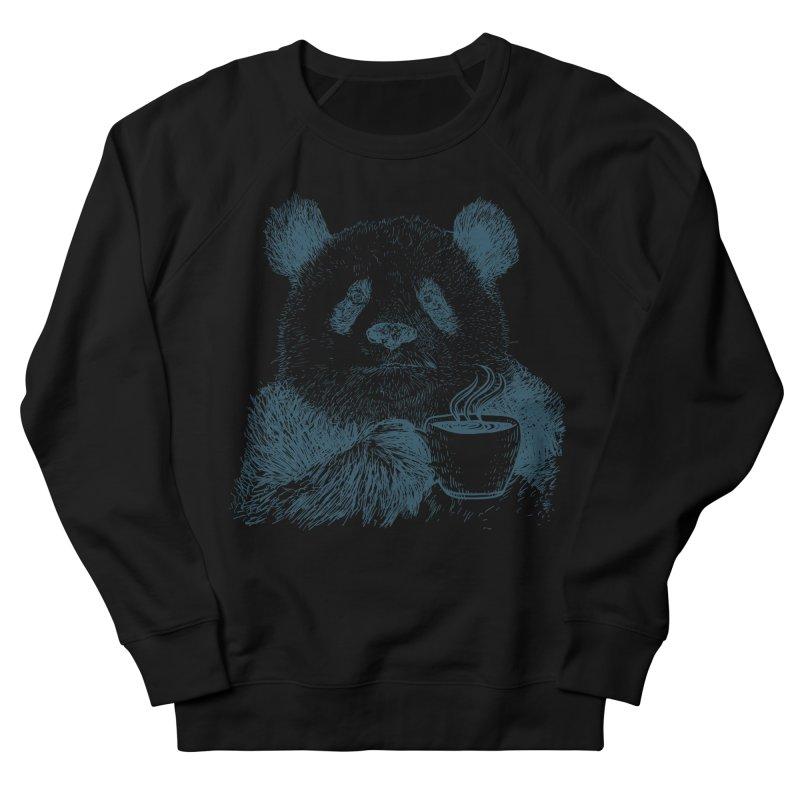 coffee panda Women's French Terry Sweatshirt by gupikus's Artist Shop