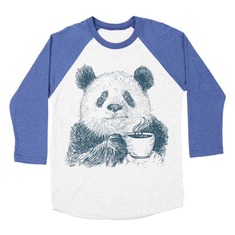 coffee panda Women's Baseball Triblend Longsleeve T-Shirt by gupikus's Artist Shop