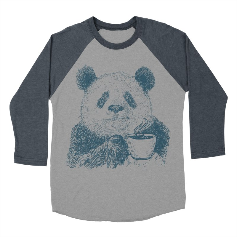 coffee panda Women's Baseball Triblend Longsleeve T-Shirt by gupikus's Artist Shop