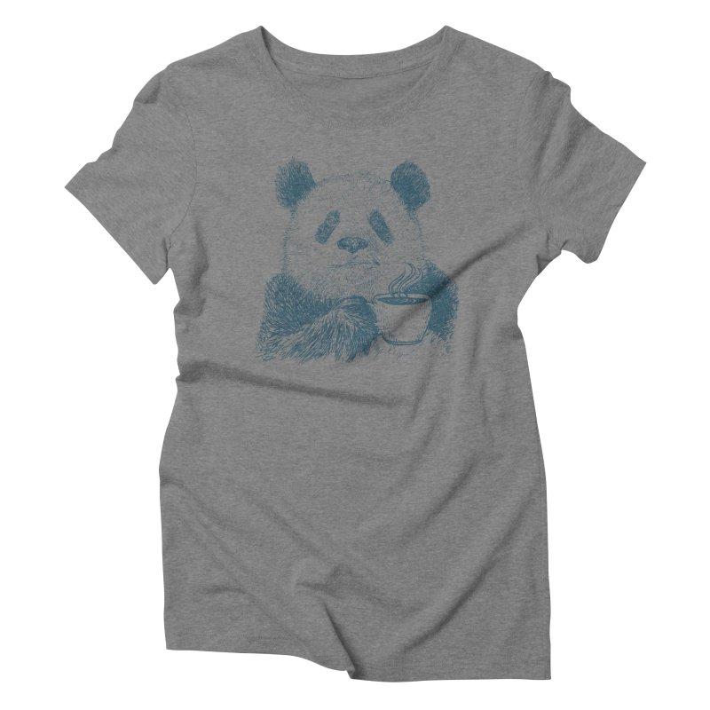 coffee panda Women's Triblend T-Shirt by gupikus's Artist Shop