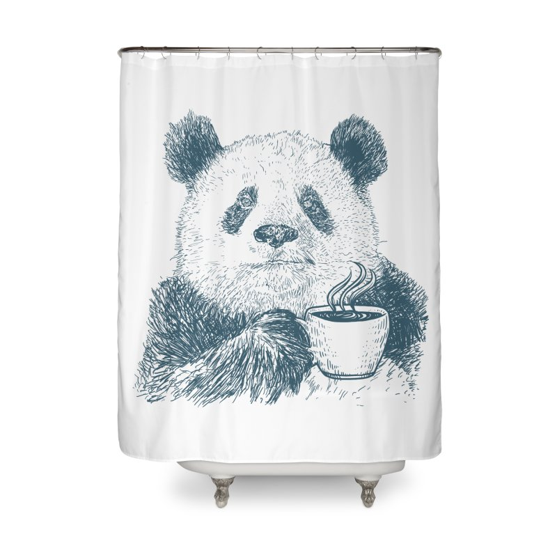 coffee panda Home Shower Curtain by gupikus's Artist Shop