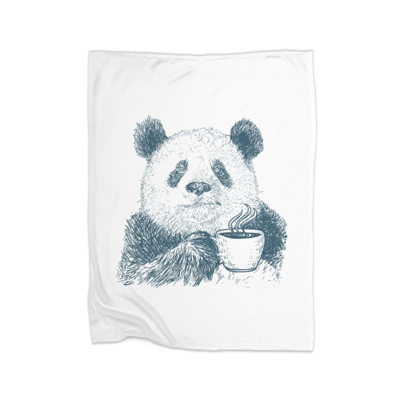 coffee panda Home Blanket by gupikus's Artist Shop
