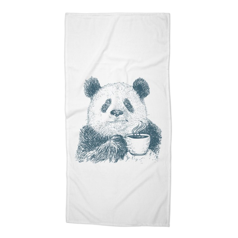 coffee panda Accessories Beach Towel by gupikus's Artist Shop
