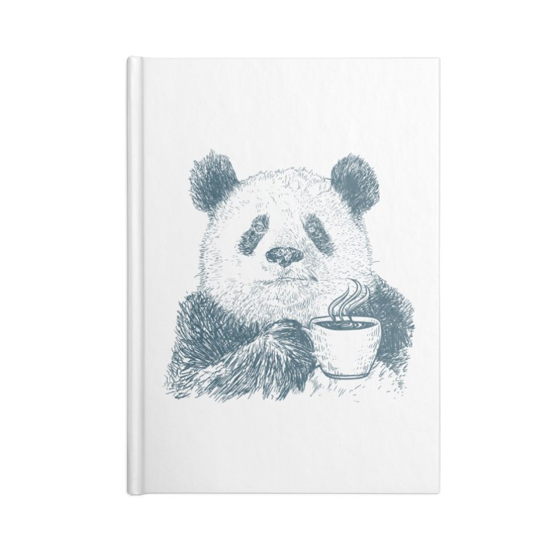coffee panda Accessories Lined Journal Notebook by gupikus's Artist Shop