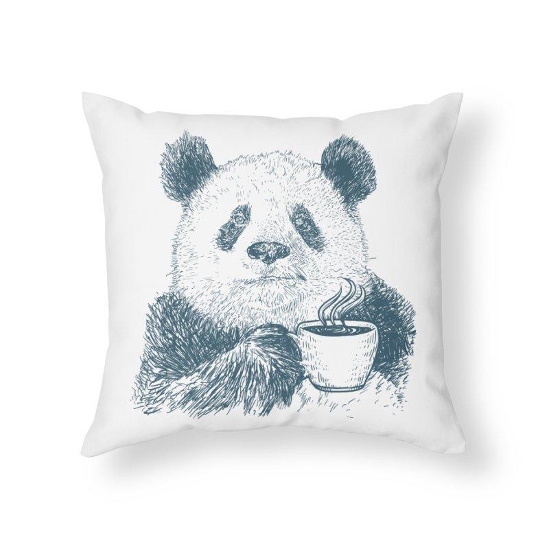 coffee panda Home Throw Pillow by gupikus's Artist Shop