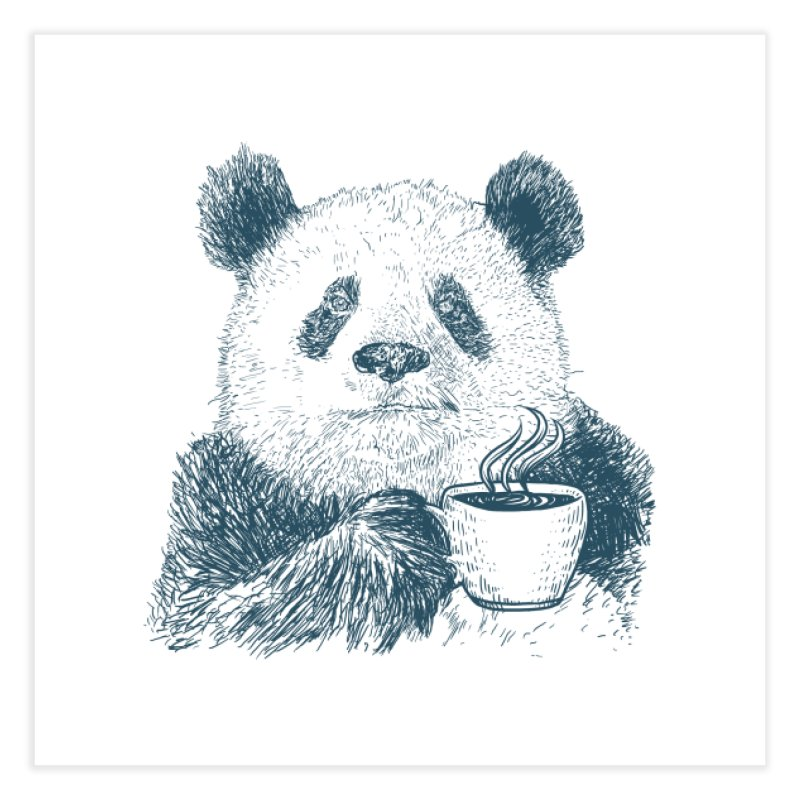 coffee panda Home Fine Art Print by gupikus's Artist Shop