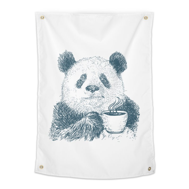 coffee panda Home Tapestry by gupikus's Artist Shop