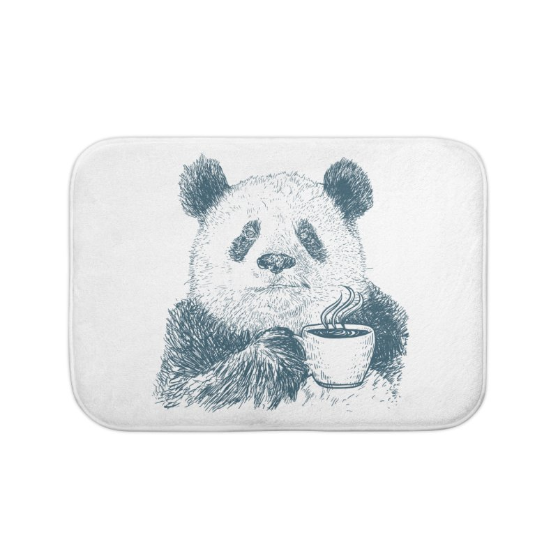 coffee panda Home Bath Mat by gupikus's Artist Shop