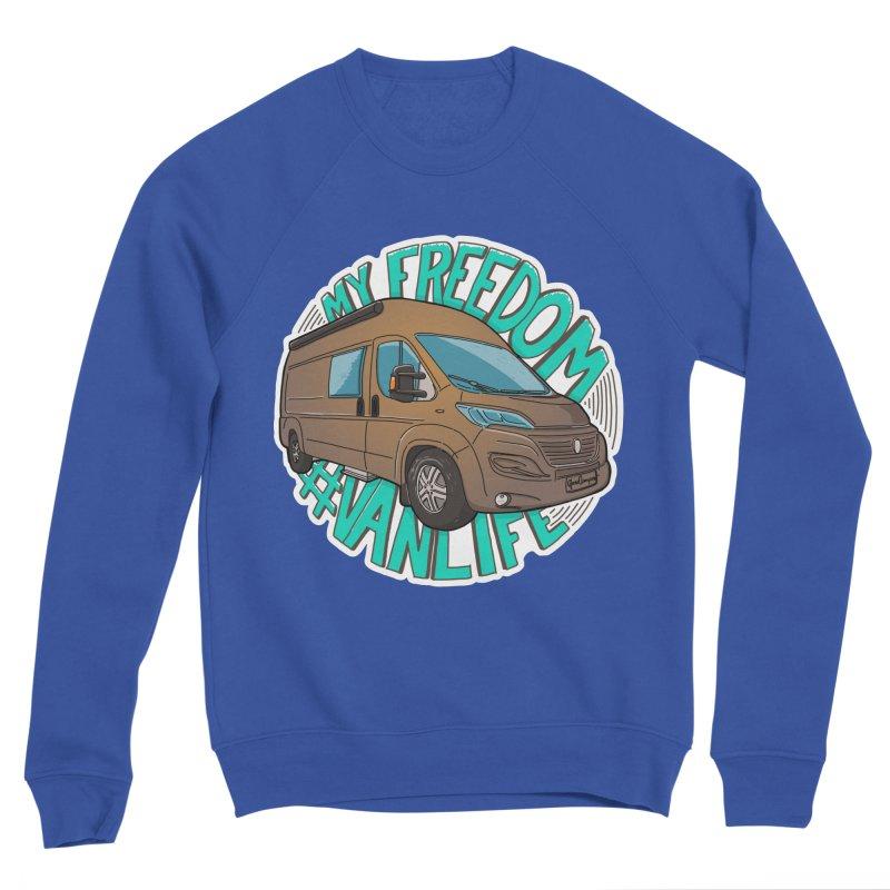My Freedom Vanlife Men's Sweatshirt by Illustrated GuruCamper