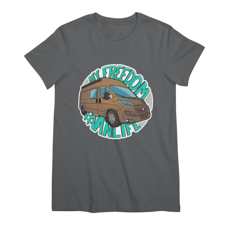 My Freedom Vanlife Women's Premium T-Shirt by Illustrated GuruCamper