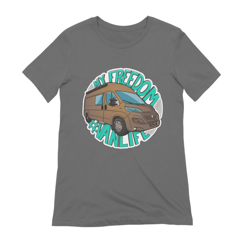My Freedom Vanlife Women's Extra Soft T-Shirt by Illustrated GuruCamper